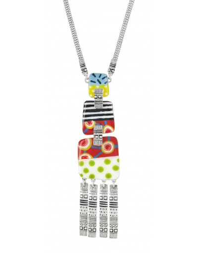 Collier Taratata Pop Art Multicolore