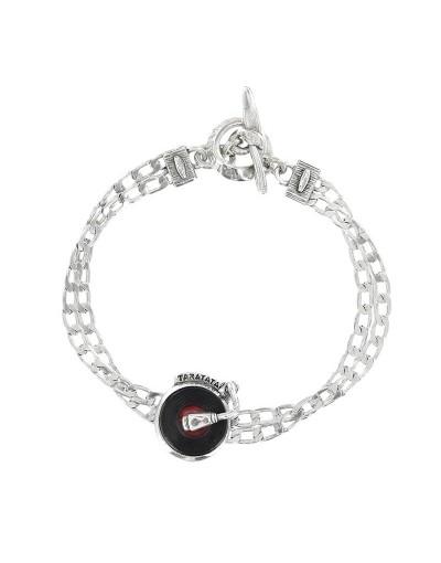 Bracelet Taratata Platine argent rouge
