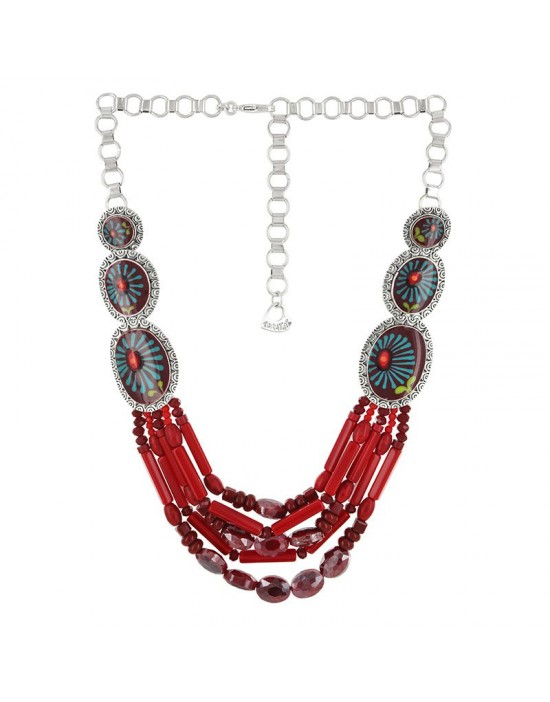 Collier Taratata Ruby rouge