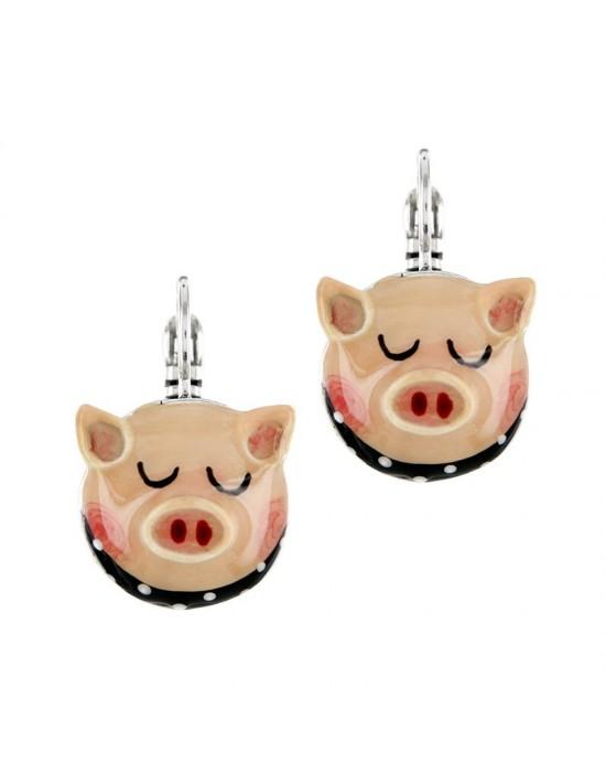 Boucles d'oreilles cochon...