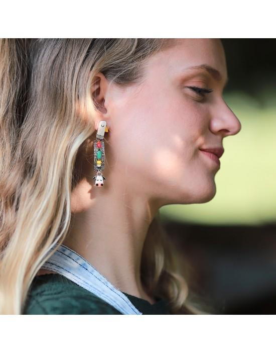Boucles d'oreilles Marguerite