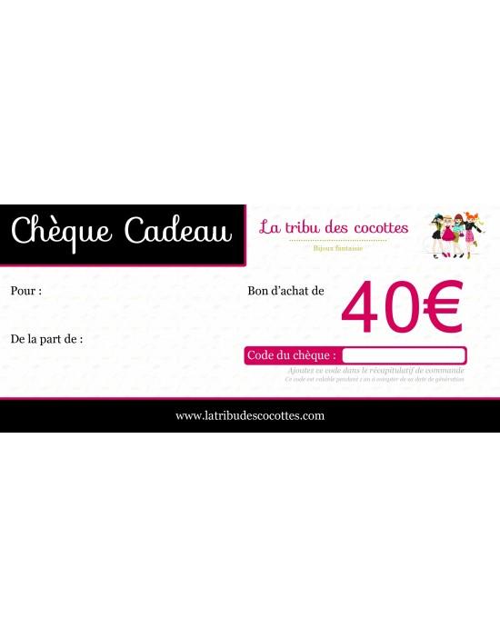 Chèque-cadeau 40 €