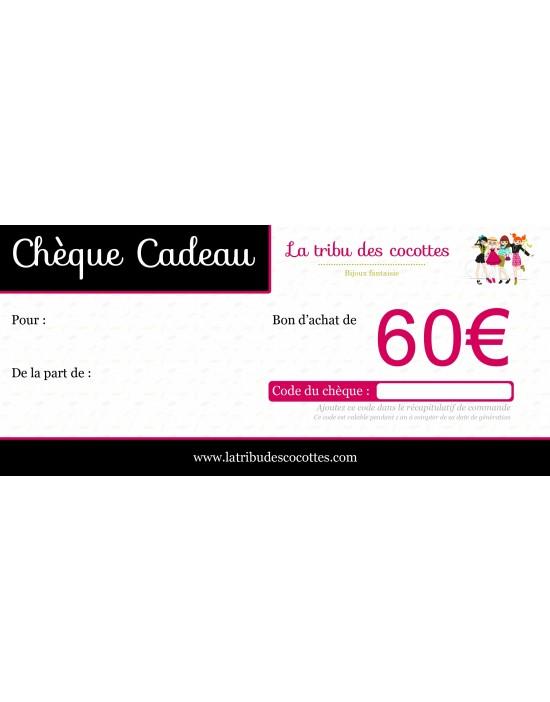 Chèque-cadeau 60 €