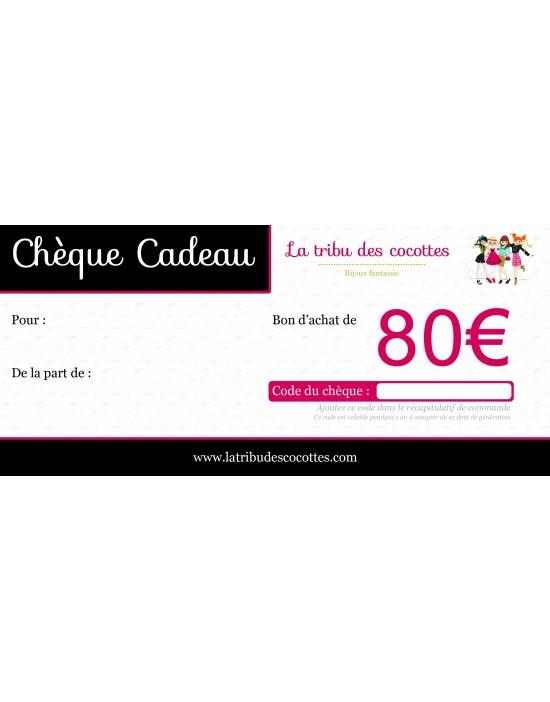 Chèque-cadeau 80 €